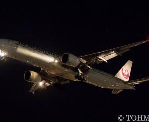 JL6773便で77W・JA733Jが飛来