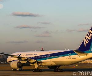JA706Aが離日。