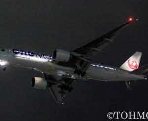 JL6773便でoneworld塗装機・JA706Jが飛来