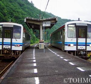 15年前、三江線口羽駅にて