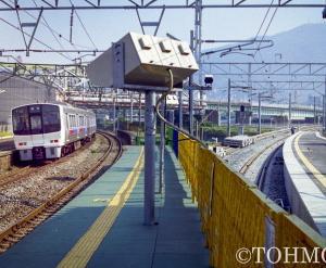 21年前、枝光駅にて線路切り替え工事の様子を