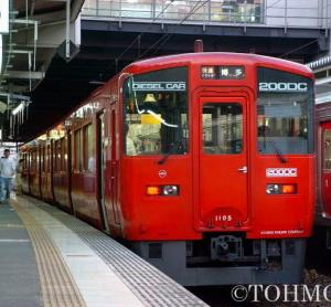 19年前、小倉にて赤いキハ200を