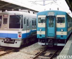 24年前、筑前前原駅にて。
