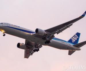 NH265便でWL付きB763ER・JA627Aが飛来