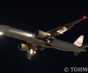 JL6773便が復活、77W・JA731Jが飛来。