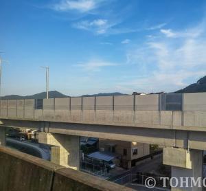 新幹線の高架がだいぶ・・・。