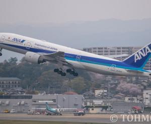 JA707Aが離日。