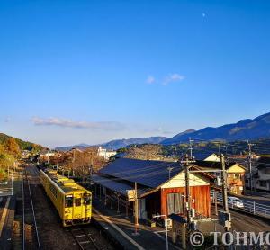 久大本線庄内駅の夕景