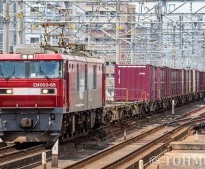 EH500-65牽引の4095レを吉塚にて