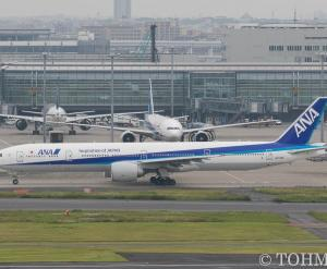 JA779Aが離日。