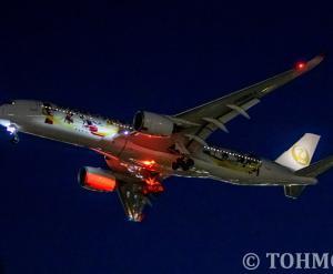 「金の鶴丸」JA06XJを夜撮。