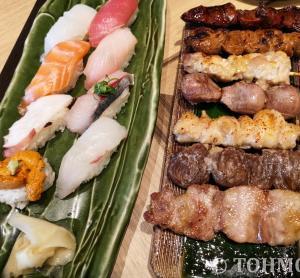 【福岡空港】スタッフ育成のために、半額提供された串焼きとお寿司!