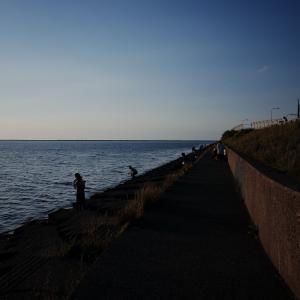 石狩花畔埠頭で息抜き2