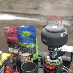 河原でお茶会