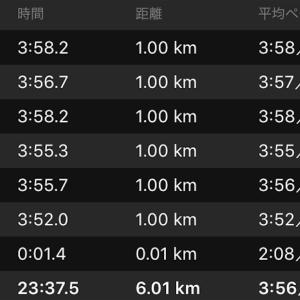 ペース走 6km(ナイキ ズームフライ)