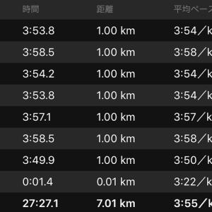 ペース走 7km(ナイキ ズームフライ)