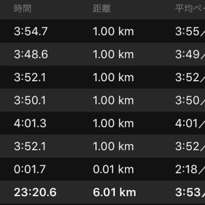 ペース走 6km (ナイキ ズームフライ)