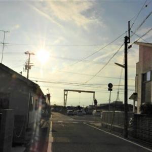 夕方、大可賀公園・松江橋・海岸散歩。約5000歩。