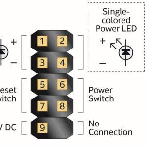 Intel NUC7の外付け電源スイッチ