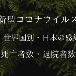 【コロナウイルス】世界国別・日本の最新の感染者数・死亡者数・退院者数情報