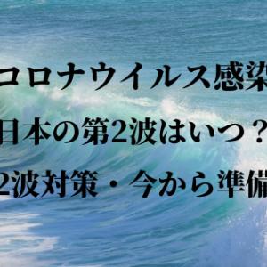 コロナウイルス日本の第2波はいつ?感染対策グッズ準備することは