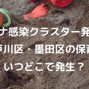 江戸川区、墨田区の保育園でコロナ感染クラスター発生!どこの施設か
