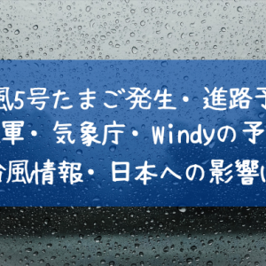 2021台風5号チャンパーたまご発生と進路予想!米軍・気象庁の台風情報とWindyの予報も