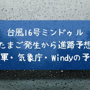 2021台風16号発生!進路予想・日本上陸は?米軍・気象庁・ヨーロッパの予報