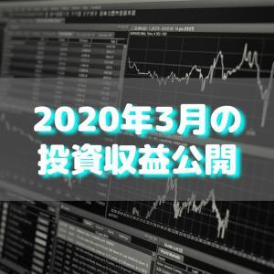 【目指せ不労所得】2020年3月の投資収益公開