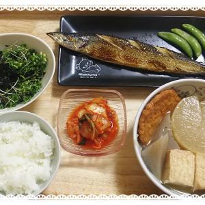 【献立】おでんと買ったサンマやブロッコリースプラウト韓国海苔和えの献立(おでんは続くよどこまでも)