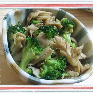 【料理】レンジで!舞茸とブロッコリーのゴマ和え(便利なもの発見)
