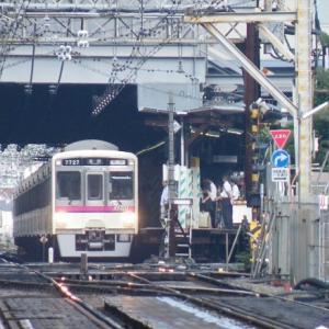 京王線調布駅にあった上り本線折返し設備
