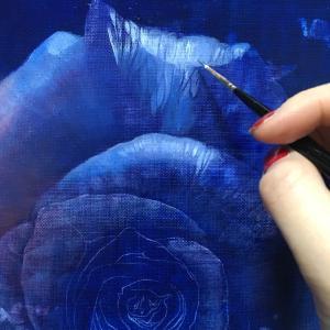 バラの油彩   制作過程⑧