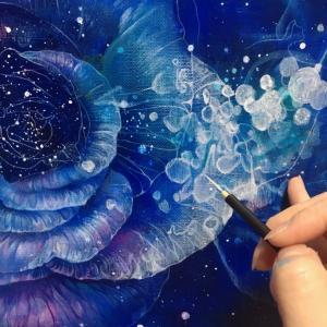 バラの油彩 制作過程14