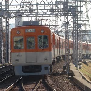 阪神8523(8502)Fが須磨浦公園以西に入線