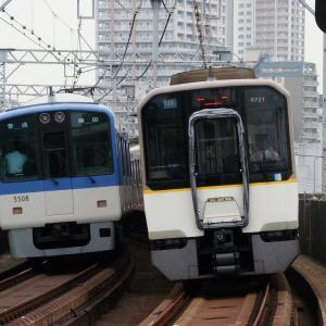 阪神5500系 5507Fと近鉄9820系 EH21