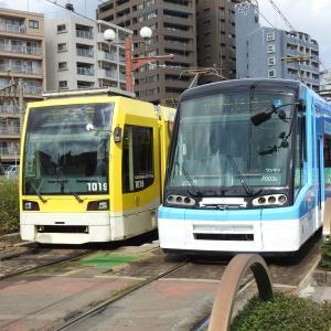 鹿児島市電1000形 1019号車&7000形 7003号車(パース・マイアミ号)