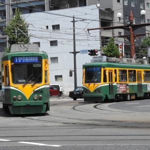 鹿児島市電9500形 9508号車&2110形 2113号車
