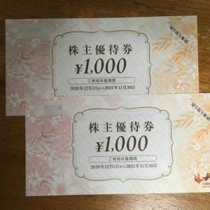 コシダカHDより株主優待券キタ━━━━(゚∀゚)━━━━!!