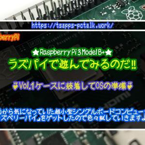 ラズパイで遊んでみるのだ!!【Vol.01:ケースに装着してOSの準備】☆Raspberry Pi 3 Model B+をゲット!じっくり遊んでいきます♪