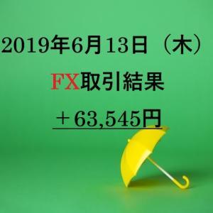 XMを利用したFXリアルトレード2019年6月13日(木)の取引結果
