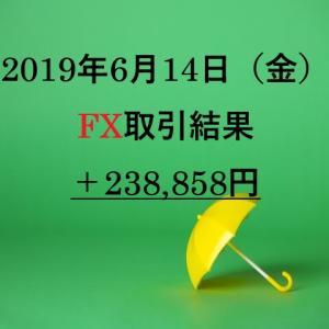XMを利用したFXリアルトレード2019年6月14日(金)の取引結果