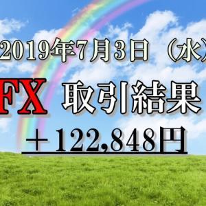 XMを利用したFXリアルトレード2019年7月3日(水)の取引結果