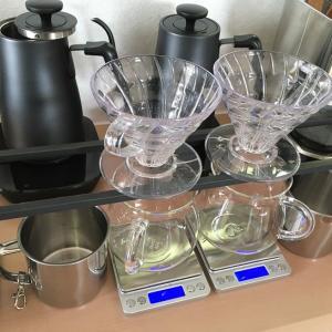 KINTOコーヒージャグとデジタルキッチンスケール