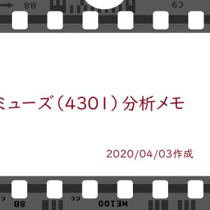アミューズ(4301)の分析メモ[今、買うなら最低2年は辛抱が必要?]