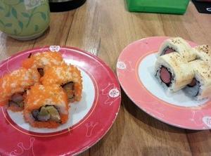 マレーシア三大寿司チェーン店(Sushi zanmai, Sushi  King, 栄Sushi)
