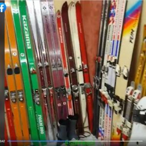 古いスキー