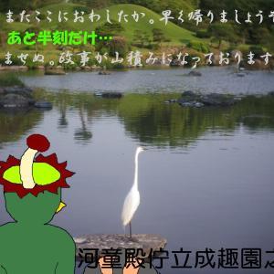 Zunow三兄弟と行く豊肥線の旅6-水前寺駅近郊の2つの公園-(河童日本紀行622)