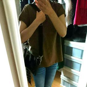 ブラウンTシャツいい感じ、食生活の事