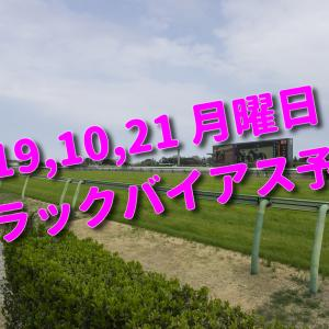 2019,10,21 月曜日 トラックバイアス予想 (東京競馬場)